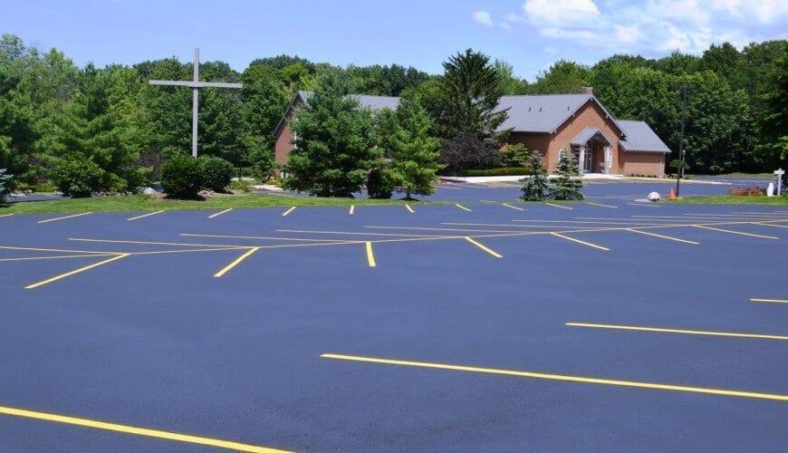 Divine Word Catholic Church's new asphalt parking lot and line striping