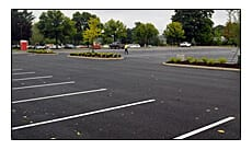 Picture of parking lot painting at Nestle USA in Solon, Ohio.