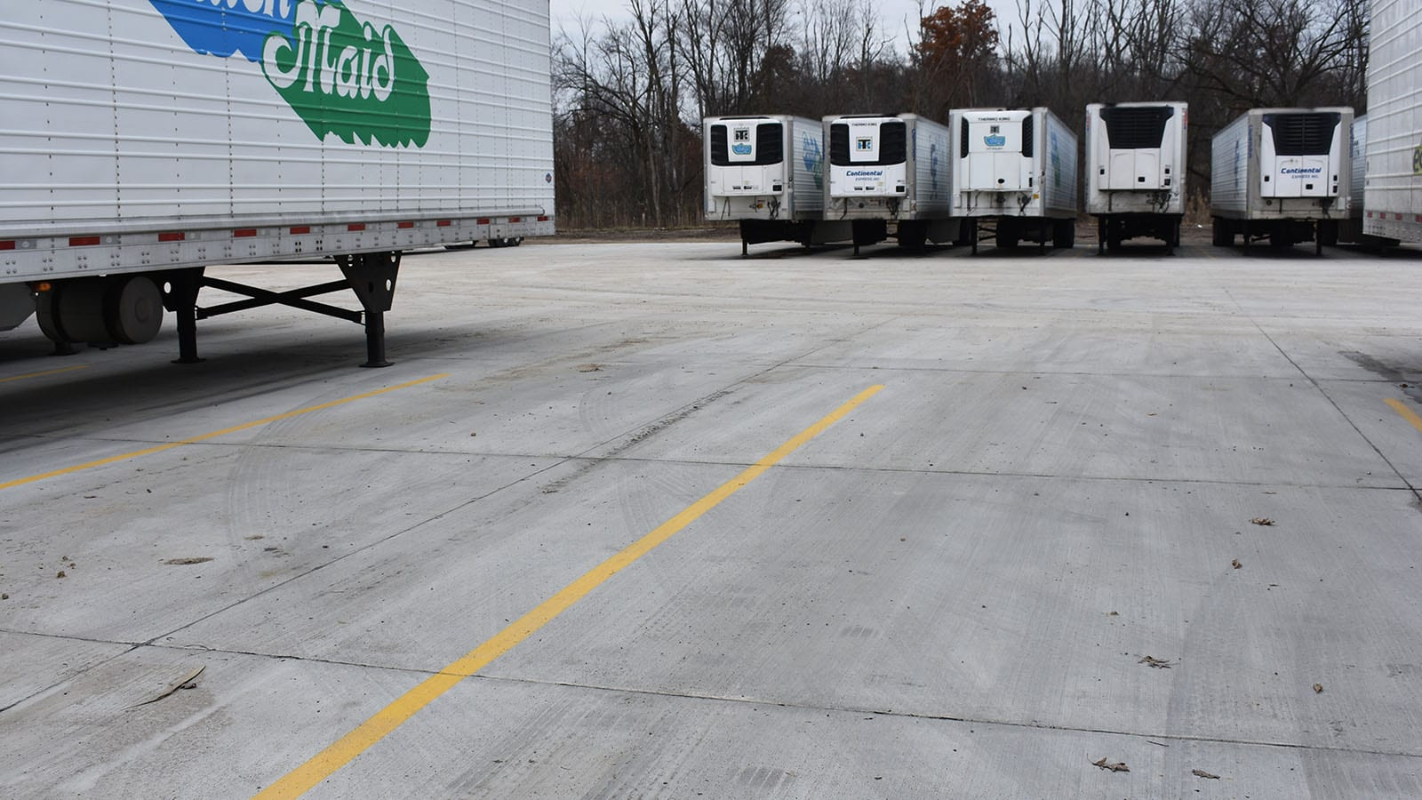 Our finished concrete lot expansion project in use by Nestle in Streetsboro, OH